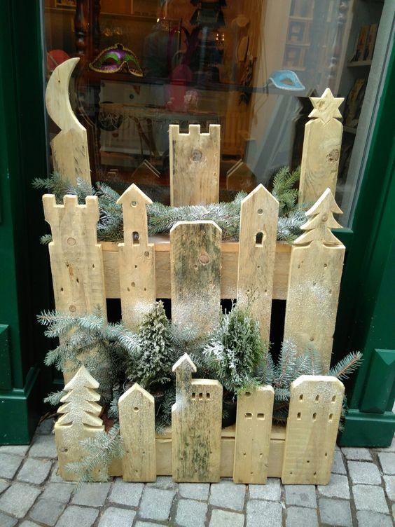 Un villaggio natalizio fai da te da realizzare con un pallet 13 idee tutorial - Weihnachtsdeko palette ...