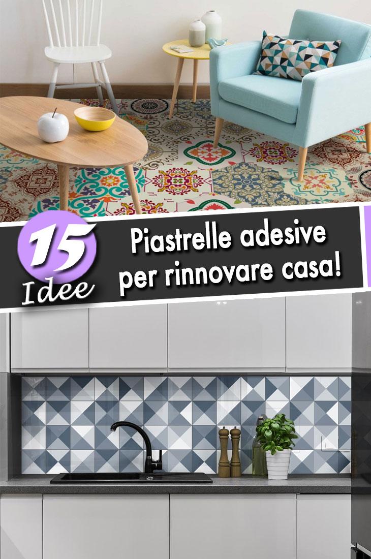 Piastrelle Decorative Per Tavoli le piastrelle adesive: ecco 15 idee che cambiano il volto di