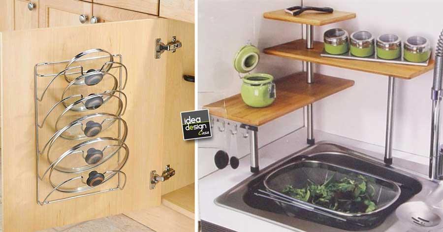 Ripiani cucina salvaspazio 15 spunti per ottimizzare la for Idee salvaspazio cucina