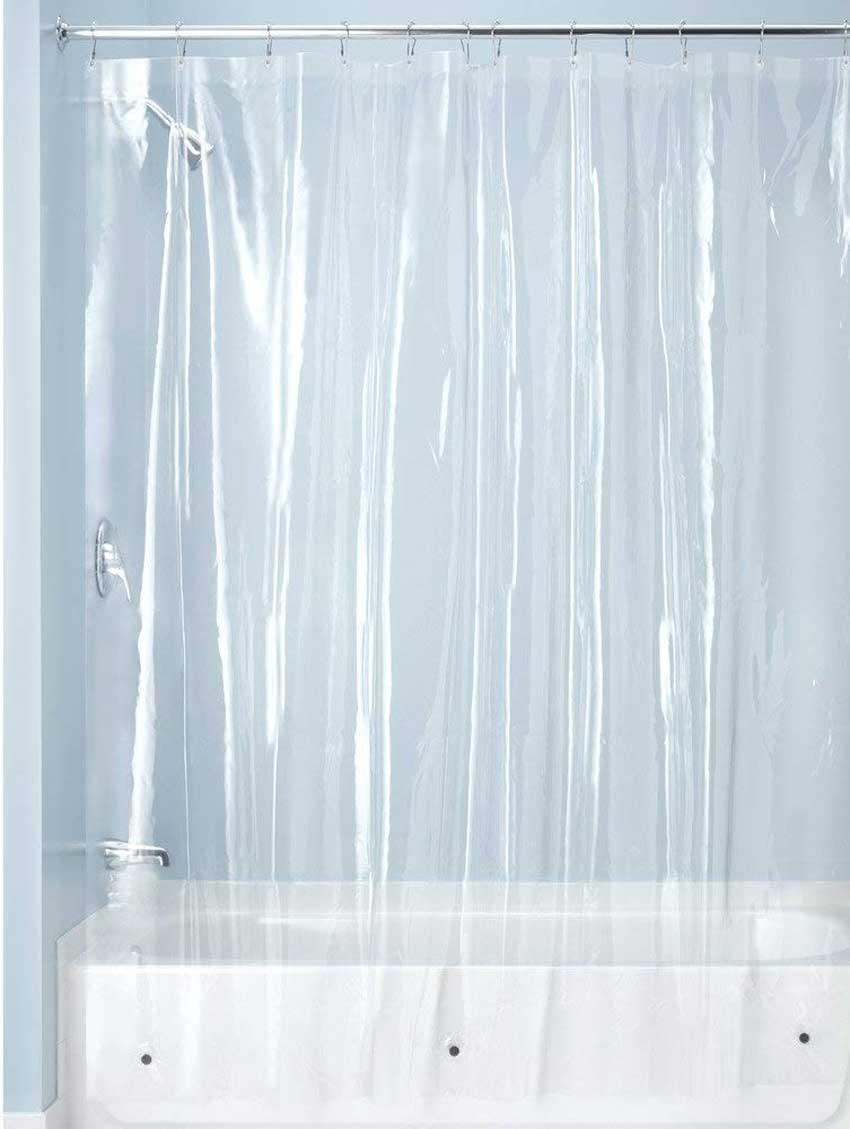 La tenda da doccia trasparente