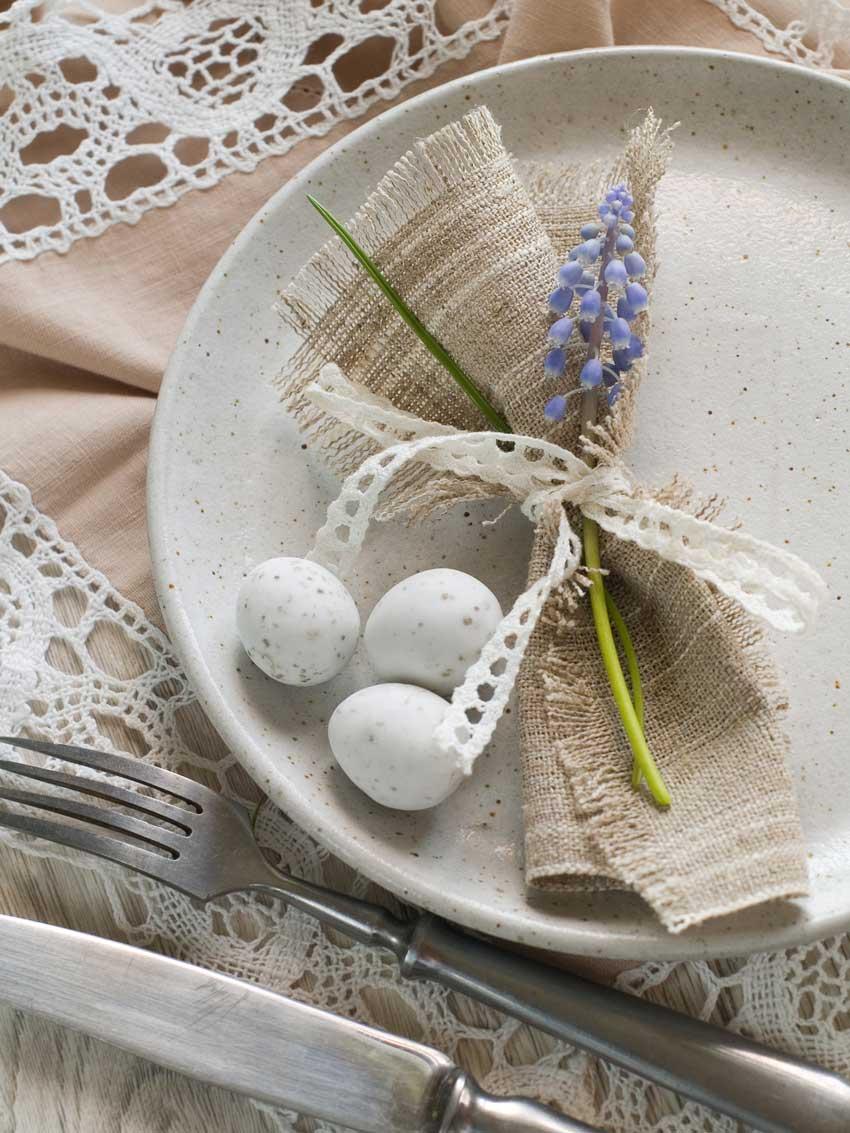 Decorazioni tavola di Pasqua