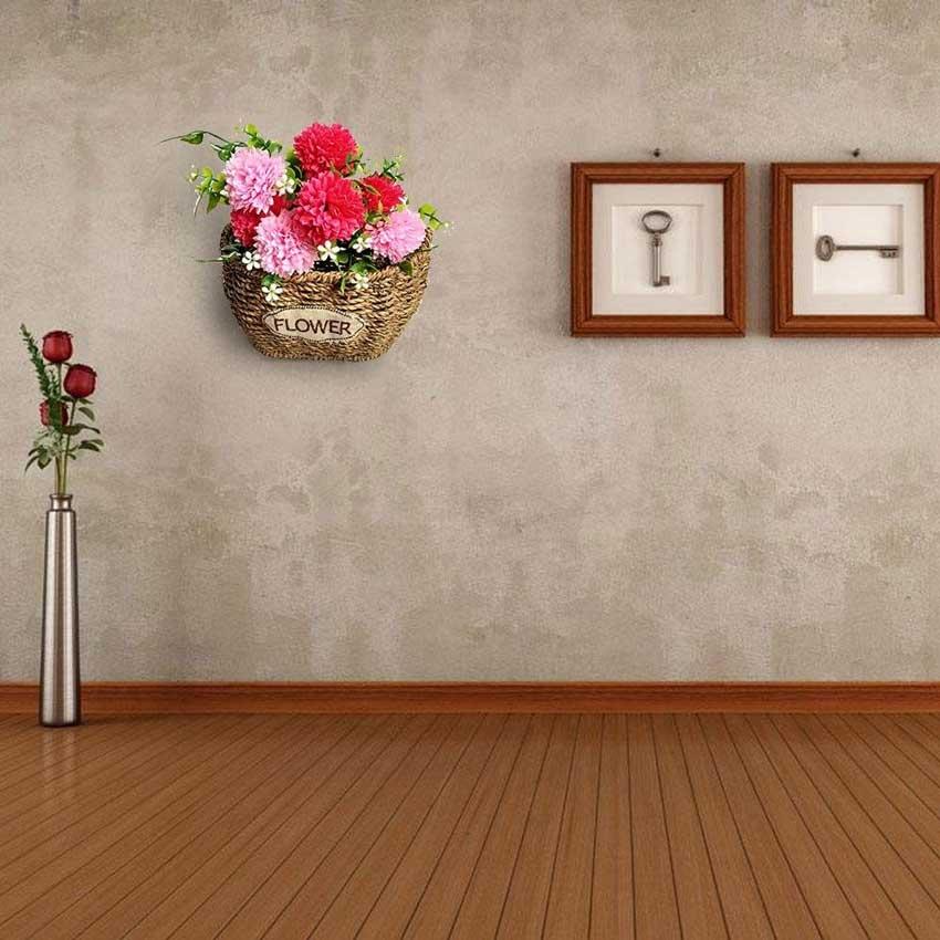 fioriera in vimini
