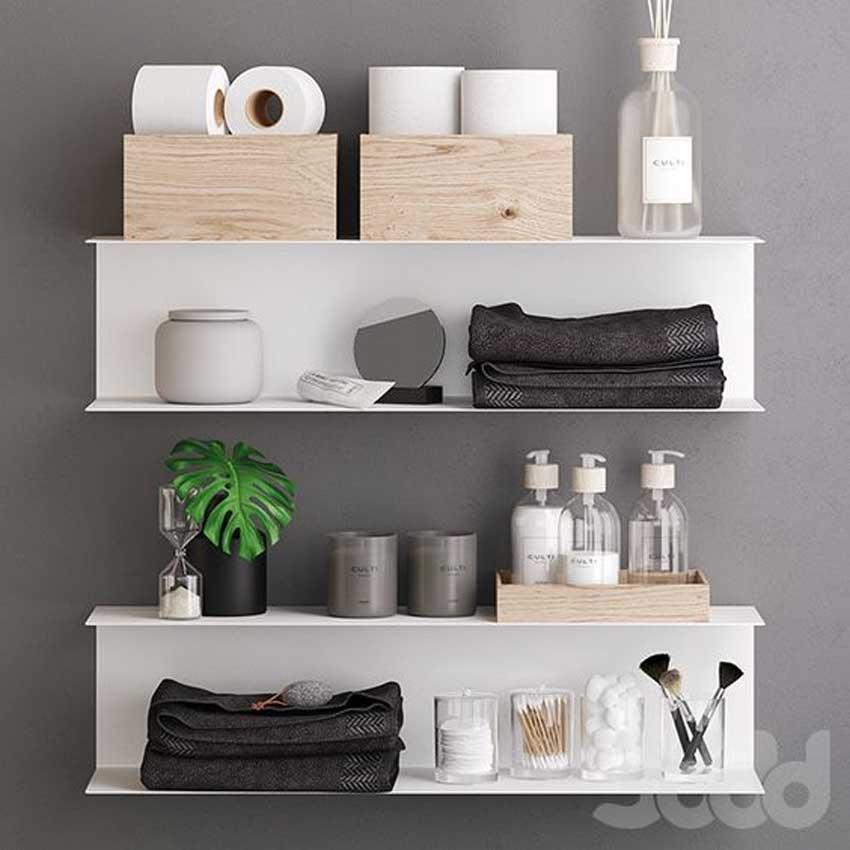 Mensole bianche IKEA Botkyrka per arredare il bagno