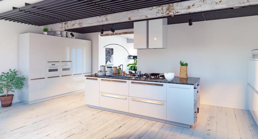 Cucine moderne pi di 100 foto per ideare la tua cucina for Casa moderna bianca