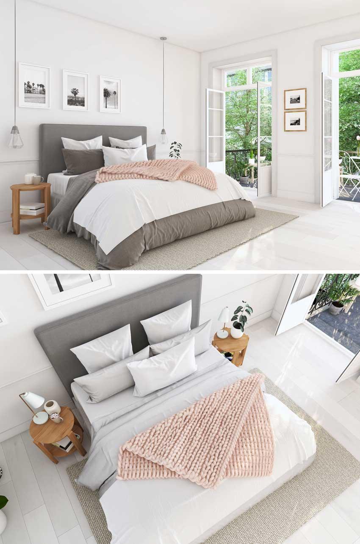 Lampadari a sospensione, arredamento design per camere da letto moderne.