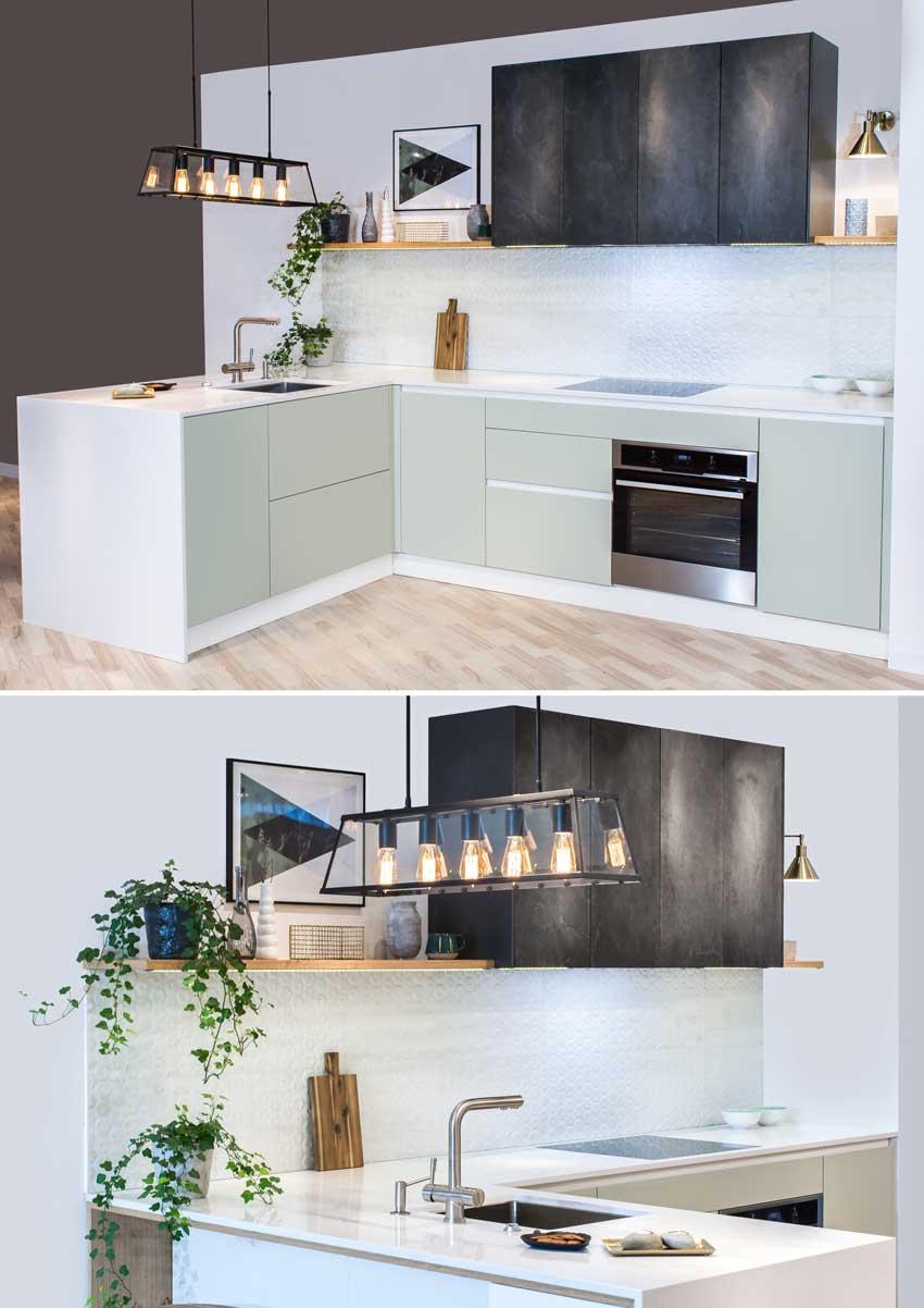 Illuminazione Piano Lavoro Cucina le cucine con isola e penisola moderne: 30 idee per una