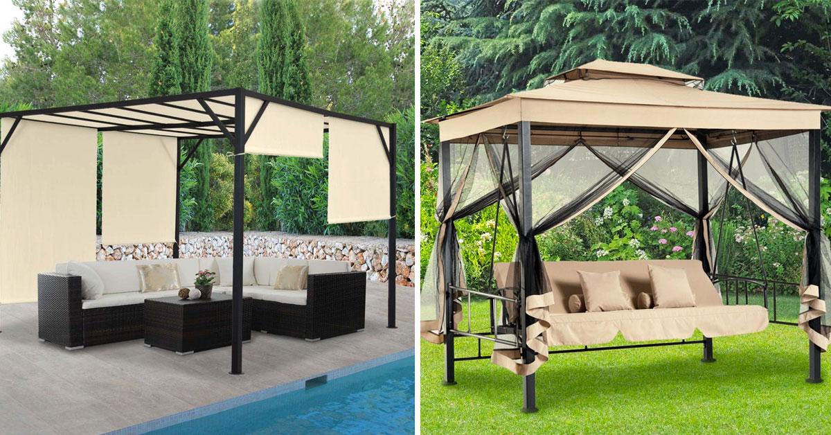 Gazebi Moderni In Legno.Gazebo Moderno 15 Idee Per Un Giardino Design Ispiratevi