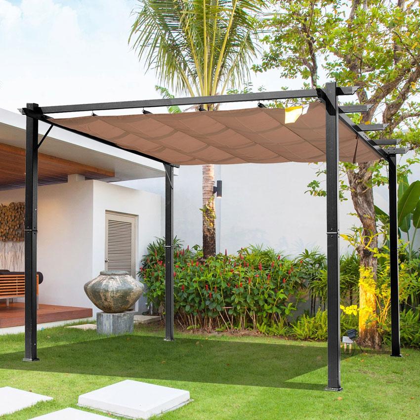 Gazebo moderno 15 idee per un giardino design ispiratevi for Idea per giardino