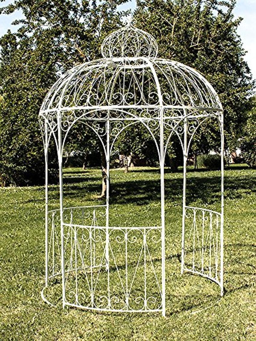 gazebo design in ferro colore bianco.