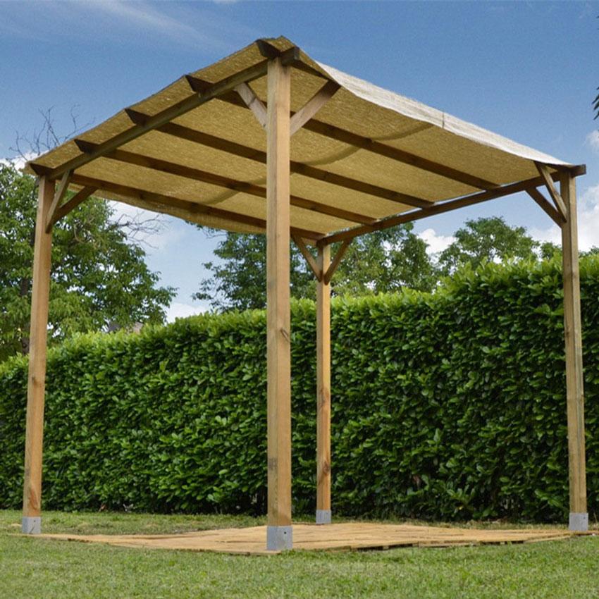 gazebo in legno a pergola per giardino.