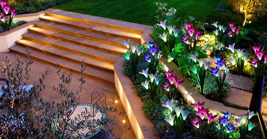 Luci solari da giardino illuminazioni design a costo