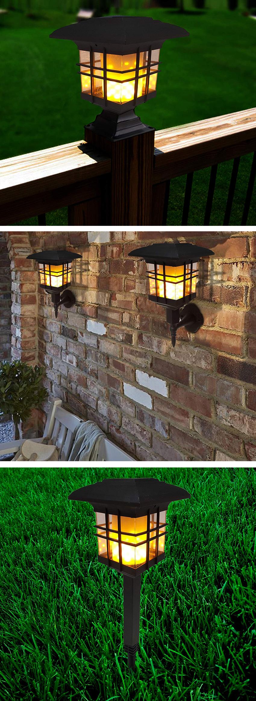 illuminazione da giardino con lanterne solari.