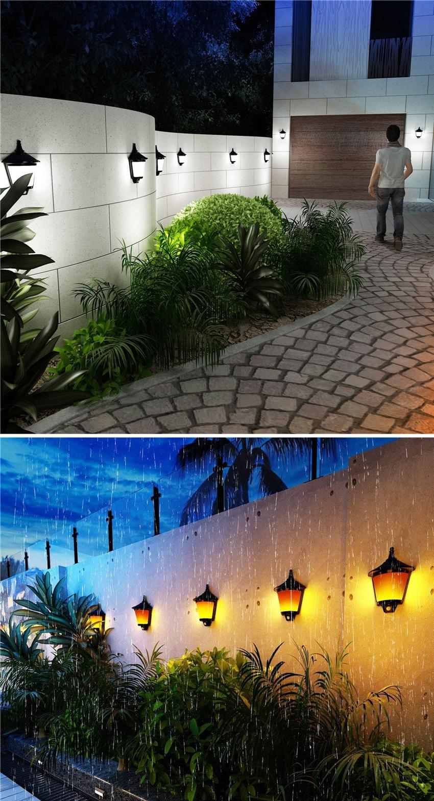 applique solari per illuminazione esterna a costa energetico zero.