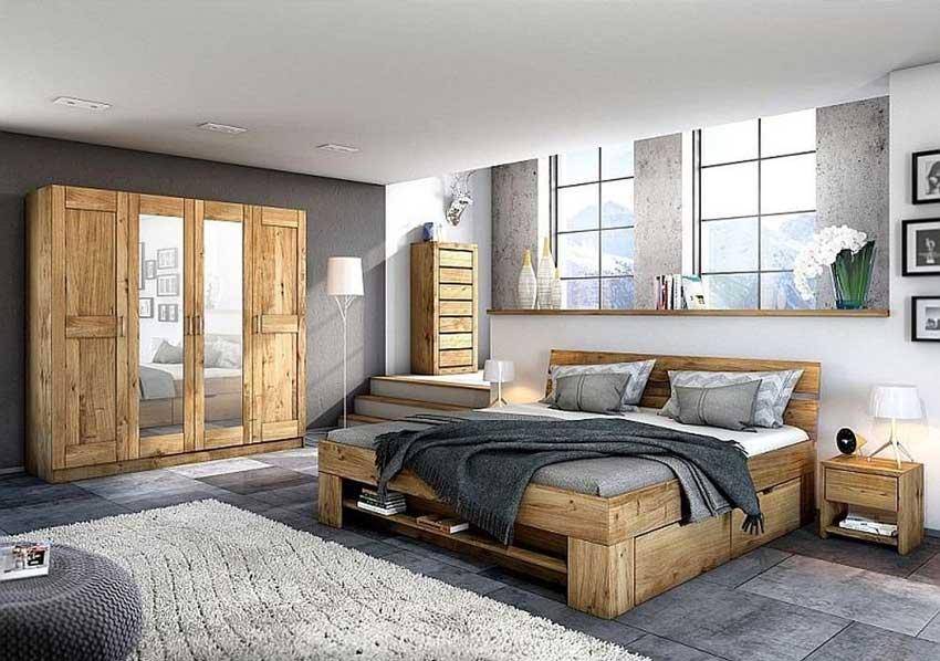 camere da letto moderne con arredamento in legno.