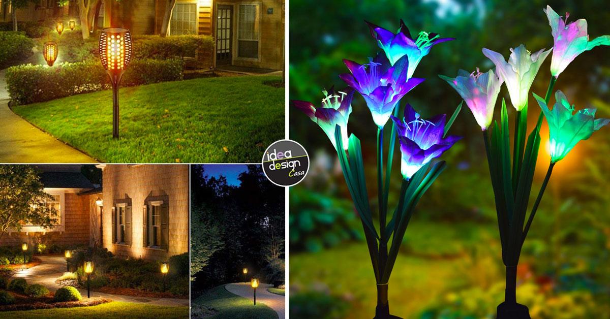 Luci Da Gazebo.Luci Solari Da Giardino 15 Illuminazioni Design A Costo