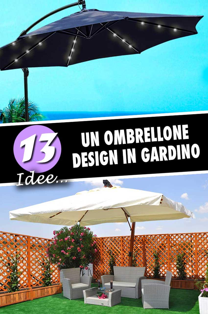 Ombrelloni Da Giardino Anche Con Luci A Led 13 Idee