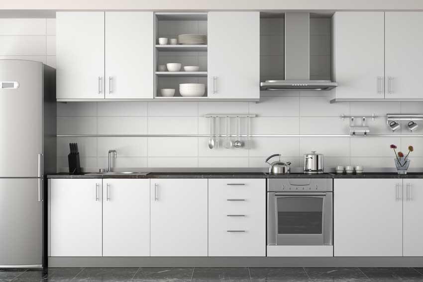 Cucina Bianca Con Top Grigio Scuro.La Cucina Bianca 25 Idee Moderne Per Contrastarla Con Un