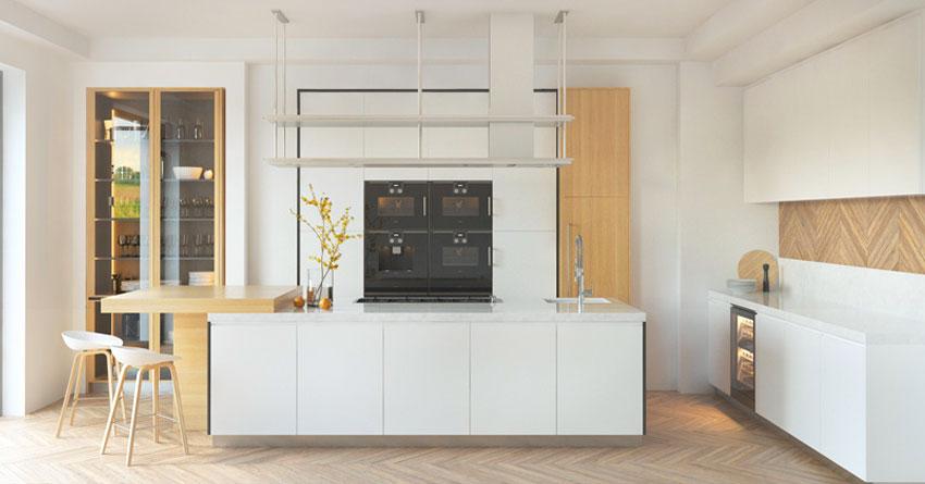 Cucina Moderna Bianca Con Top Grigio.La Cucina Bianca 25 Idee Moderne Per Contrastarla Con Un