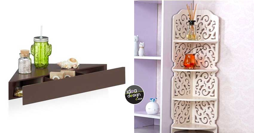 Mensole Angolari Colorate.Mensole Angolari Moderne 15 Idee Per Ottimizzare Casa