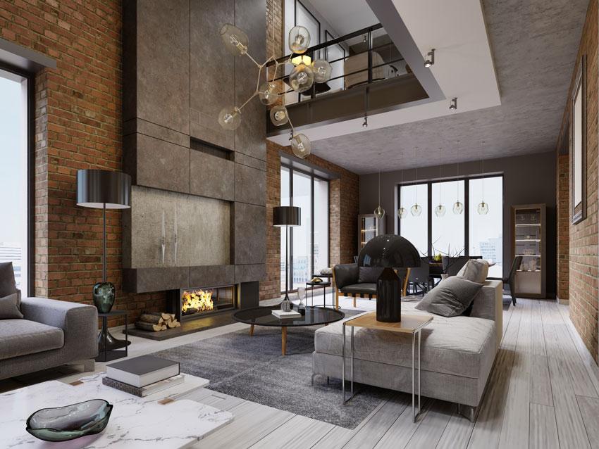 Open space 40 idee per arredare cucina e soggiorno in un for Arredare loft open space