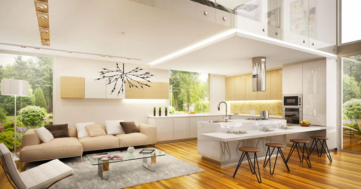 Arredare cucina soggiorno ambiente uni idee ocity for Idee ambiente