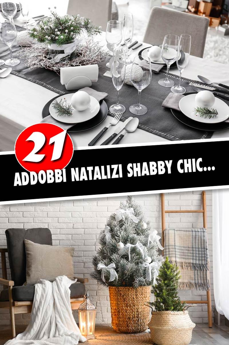 21 ispirazioni per decorare il Natale in stile Shabby chic.