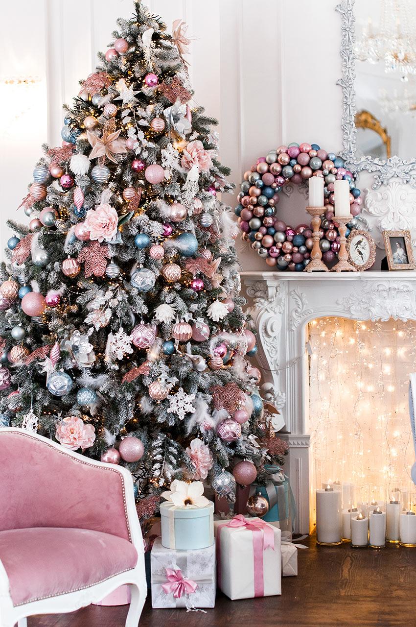 Foto Alberi Di Natale Bianchi 17 delicati addobbi rosa per l'albero di natale! lasciatevi