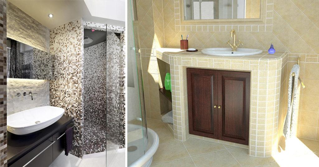 Bagni in muratura stile moderno, rustico o classico.