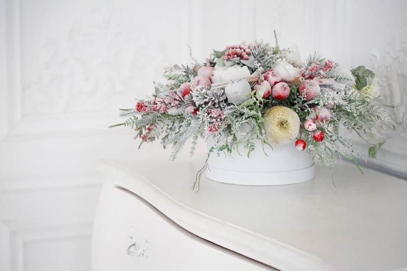 Bouquet di fiori natalizio.