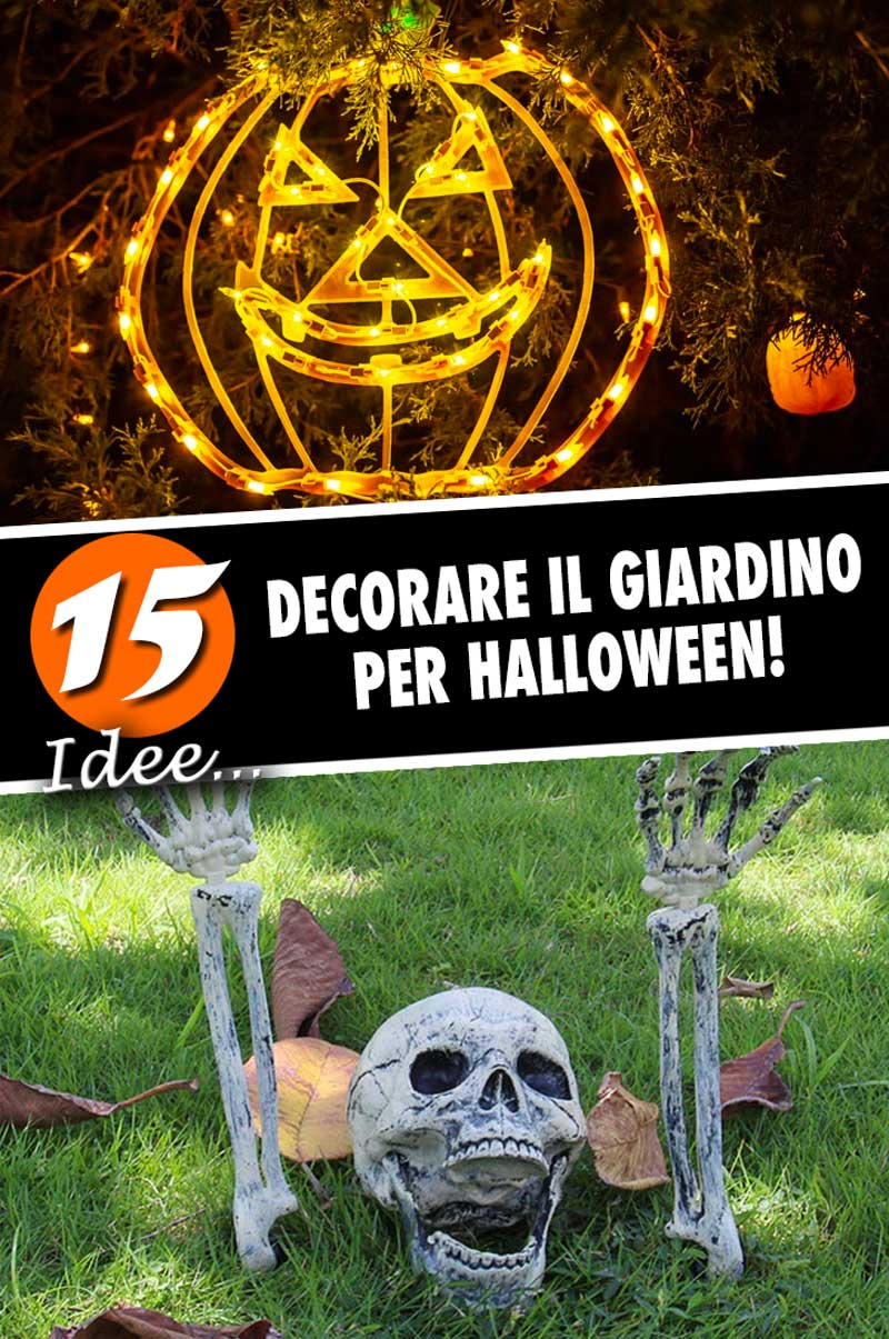 Idee per decorare il giardino durante Halloween.