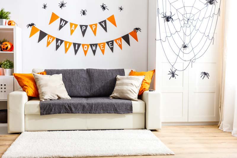 Decorazione murale happy Halloween.