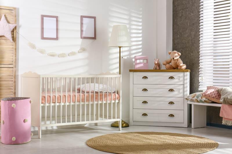 Bellissima idea per arredare la cameretta di una neonata.