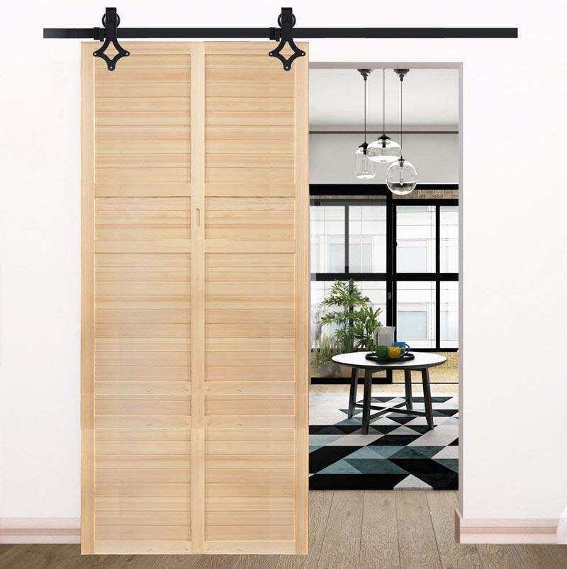 Porte scorrevoli in legno.