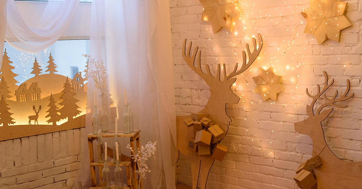 Renne di Babbo Natale idee decorazioni.