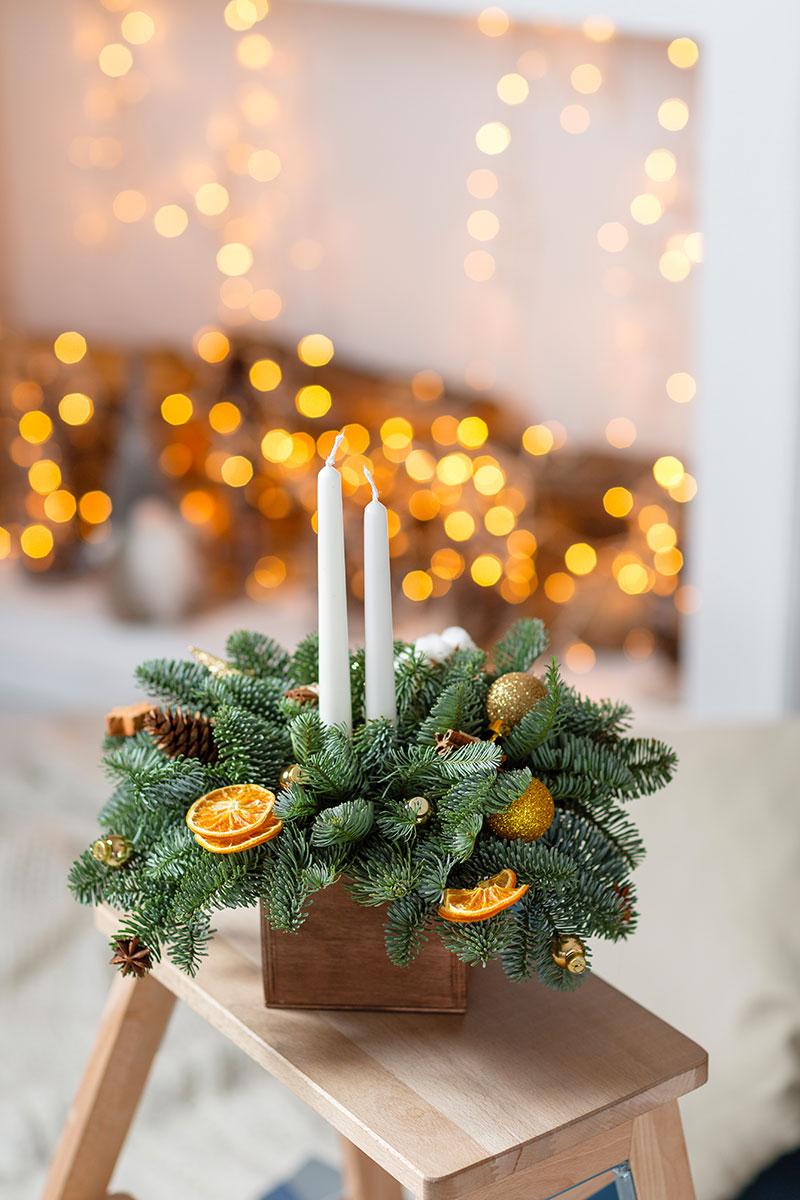 Composizioni Facili Di Frutta composizioni natalizie fai da te con rami di pino! 20 idee