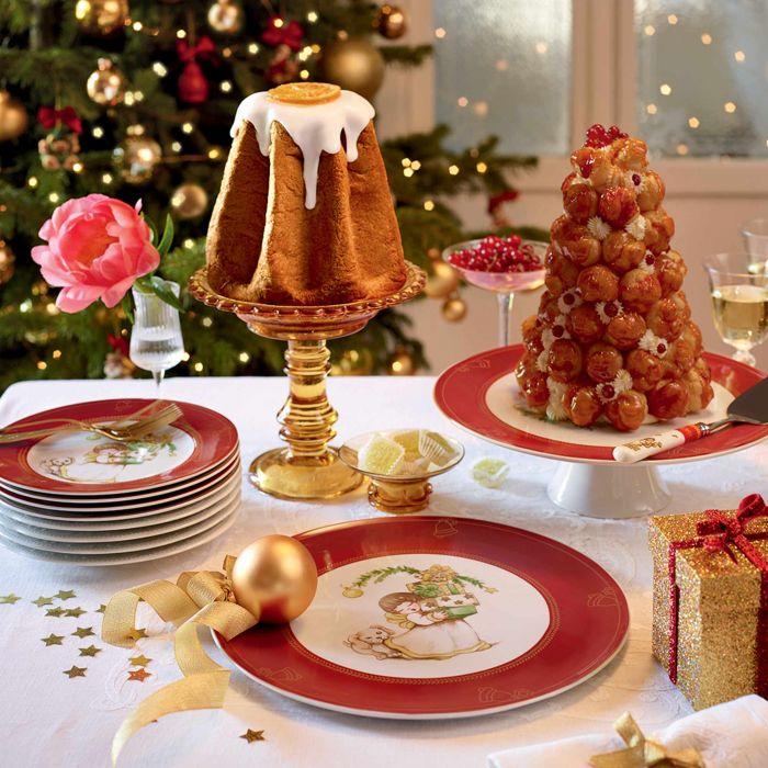 Alzata della Thun per dolci, ideale per la tavola di Natale.