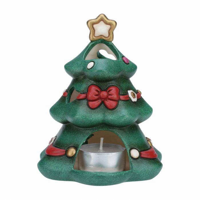 Porta candele della Thun a forma di albero di Natale.