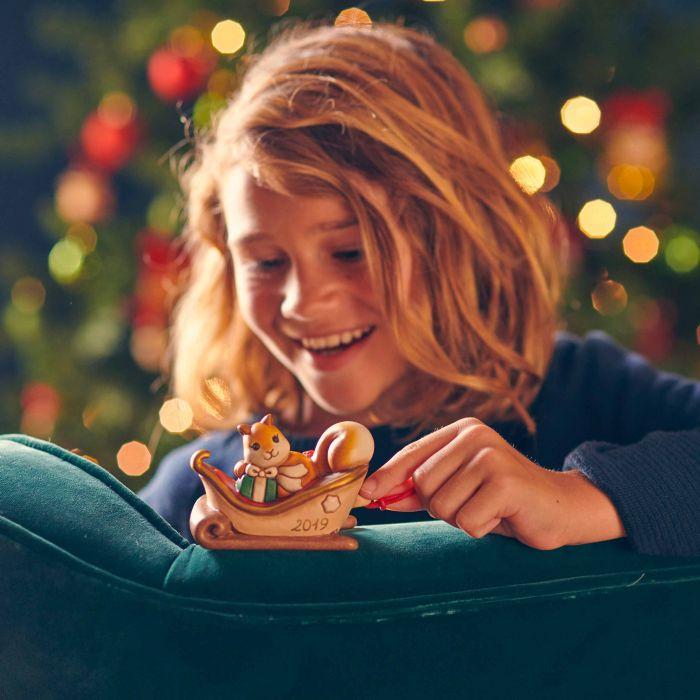Slitta componibile, decorazione di Natale della Thun.