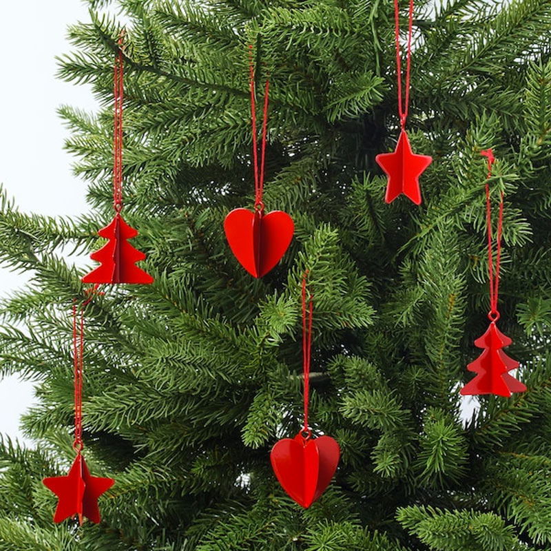 Addobbi IKEA per albero di Natale.