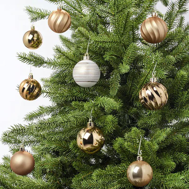 Palline di Natale dorate IKEA per albero.