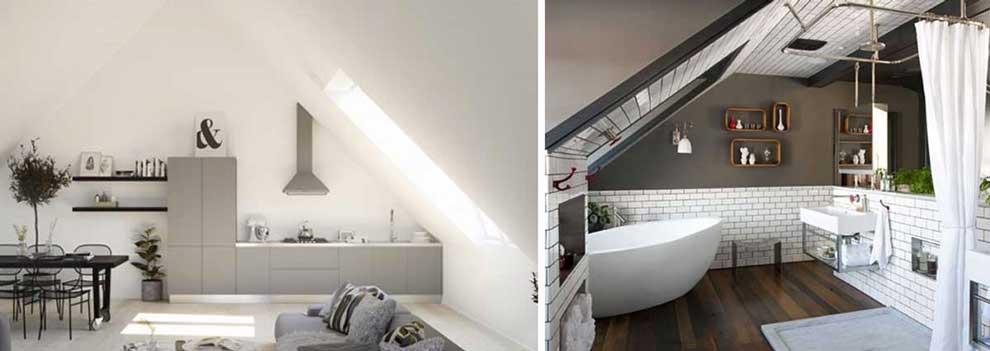 Case moderne interni, idee per arredare la mansarda in modo intelligente.