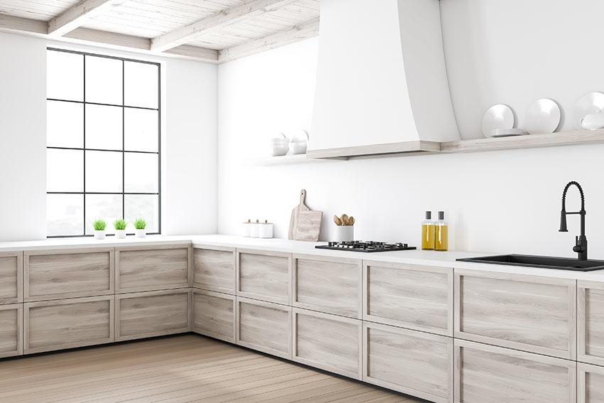 Cucina moderna con angolo.