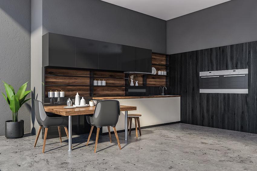 Cucine in legno nere.