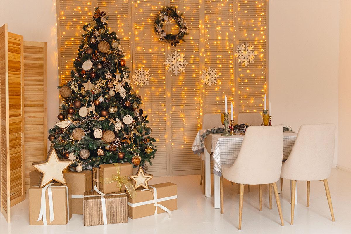 Illuminazione particolare natalizia.