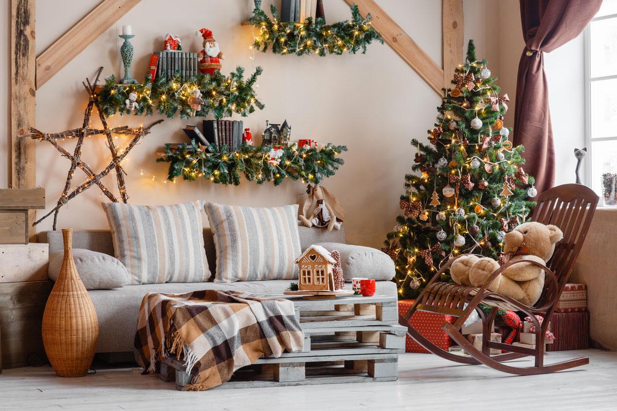 Decorazioni natalizie particolari.