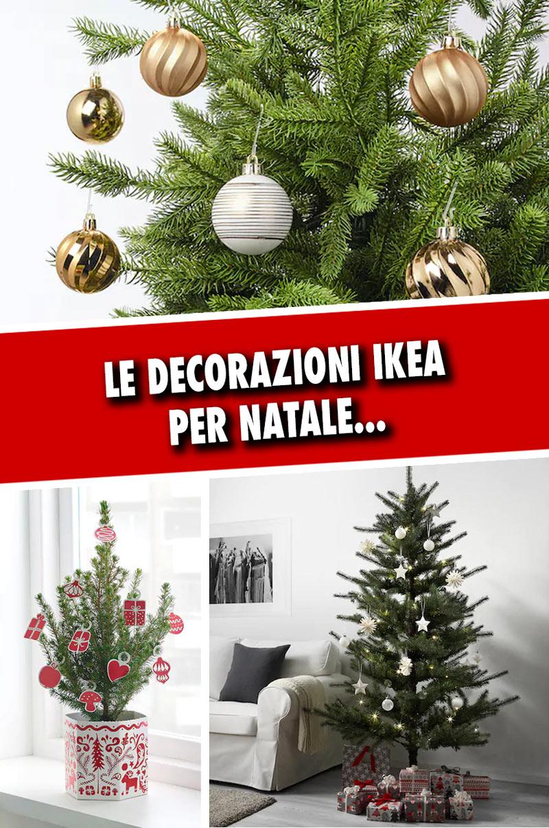 Decorazioni natalizie IKEA.