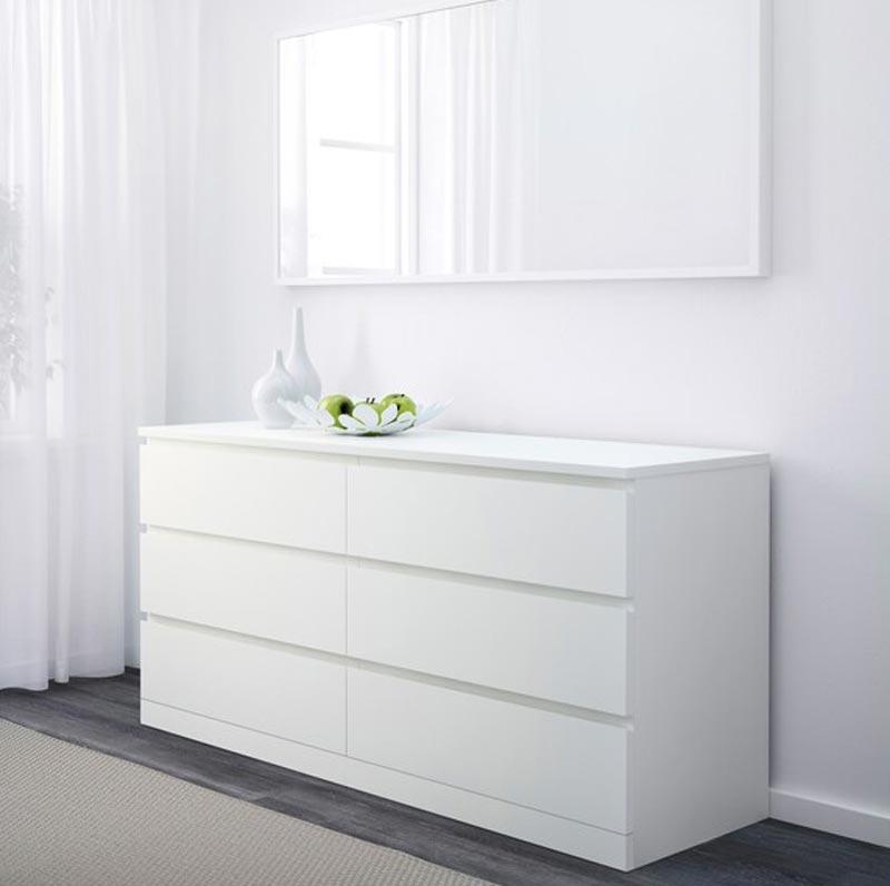 IKEA cassettiera a 6 scomparsi Malm in offerta.