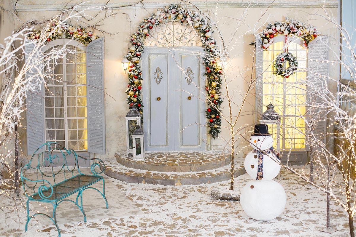Splendidi addobbi natalizi per esterno casa.