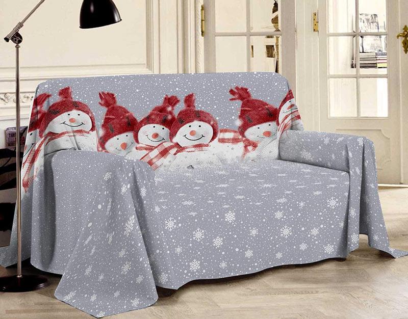 Coperta natalizia per il divano.