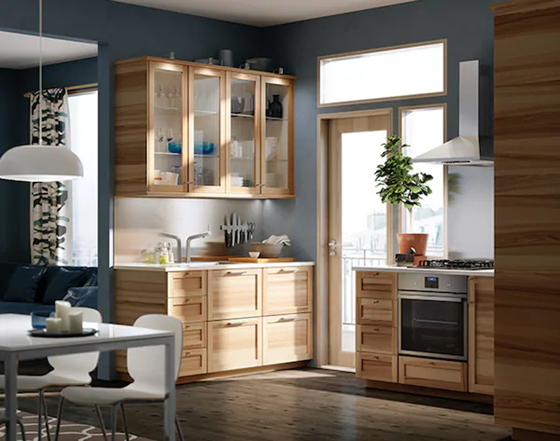 Modelli cucine IKEA TORHAMN frassino naturale.